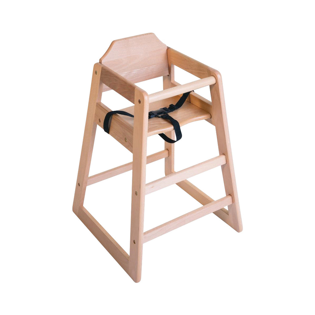 DL900 Wooden Stackable Highchair - Natural Finish Chemworks Hospitality Canberra