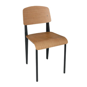 DM338 Wood & Steel Chairs - Black Chemworks Hospitality Canberra
