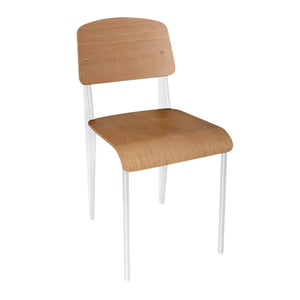 DM3398 Wood & Steel Chairs - White Chemworks Hospitality Canberra