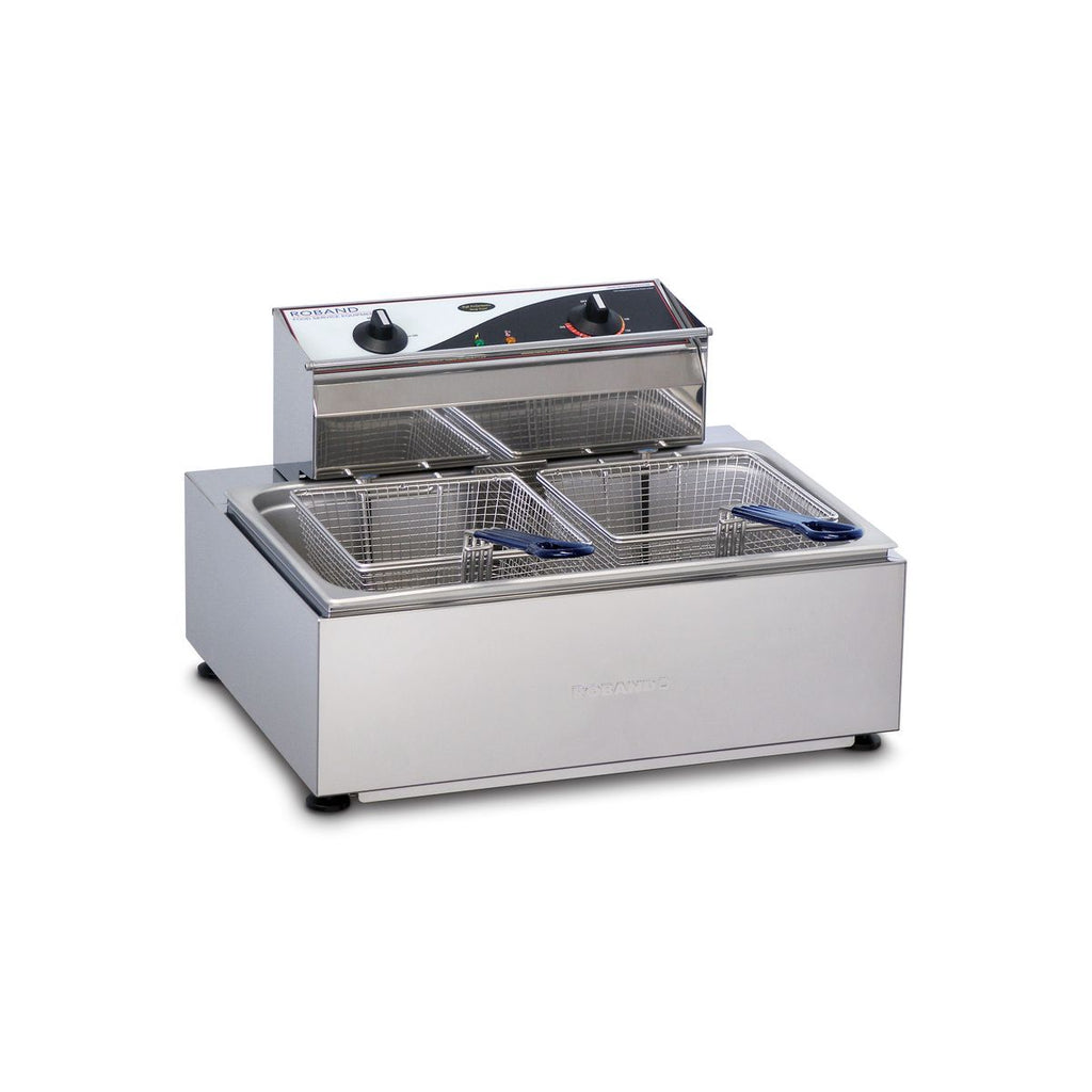 RO-F111 Roband Deep Fryer Single Pan / Twin Basket 11Ltr Chemworks Hospitality