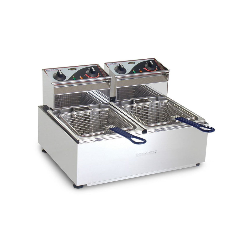 RO-F25 Roband Deep Fryer Twin Pan 2x5Ltr Chemworks Hospitality
