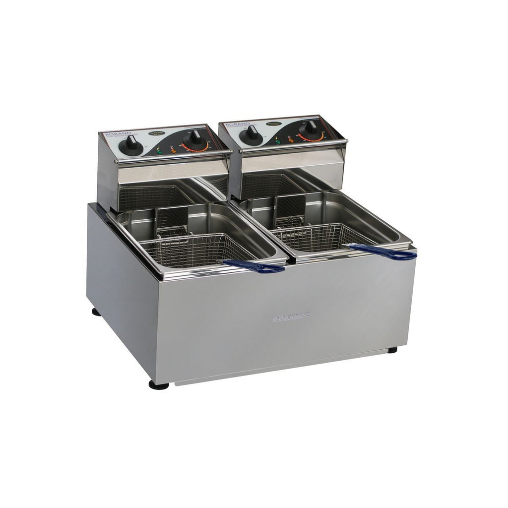 RO-F28 Roband Deep Fryer Twin Pan 2x8Ltr Chemworks Hospitality
