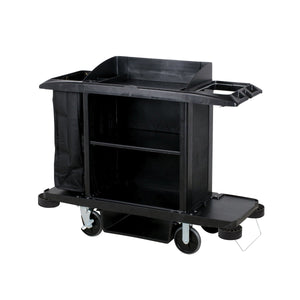 FG618900BLA Rubbermaid Classic Housekeeping Cart - Protective Hood - Black 1524x559x1270mm Chemworks Hospitality Canberra