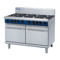 MO-G528D Blue Seal 1200mm Gas Double Oven Range with 2 Static Ovens Chemworks Hospitality