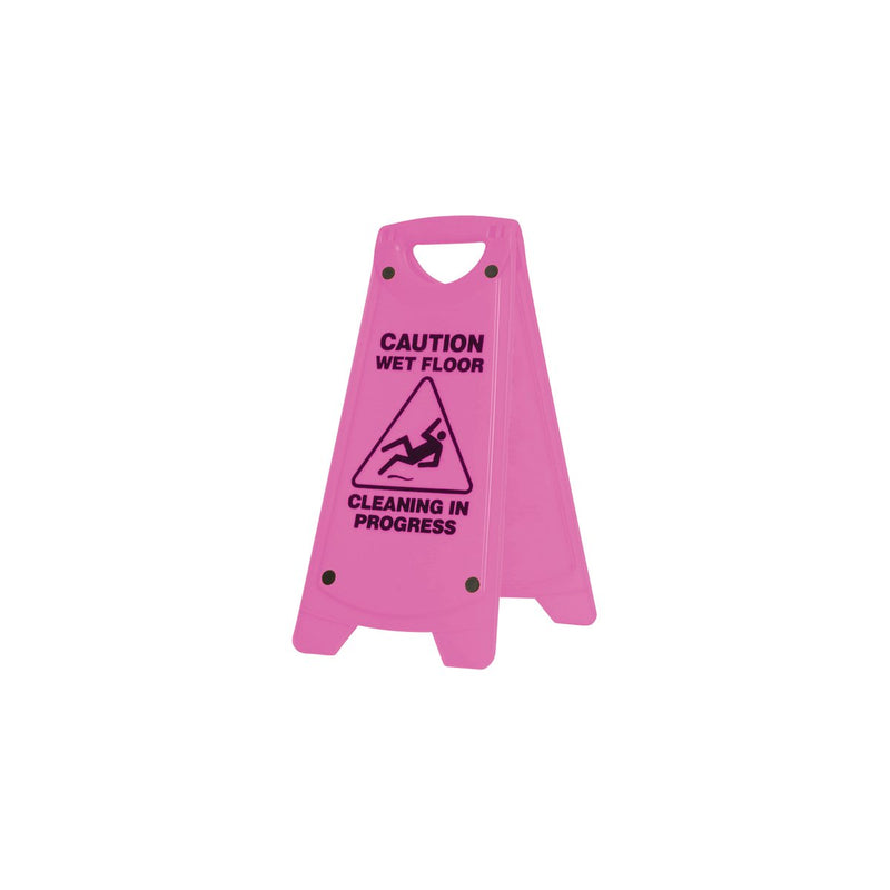IW-101P Non Slip A-Frame Caution Sign - Pink Chemworks Hospitality Canberra
