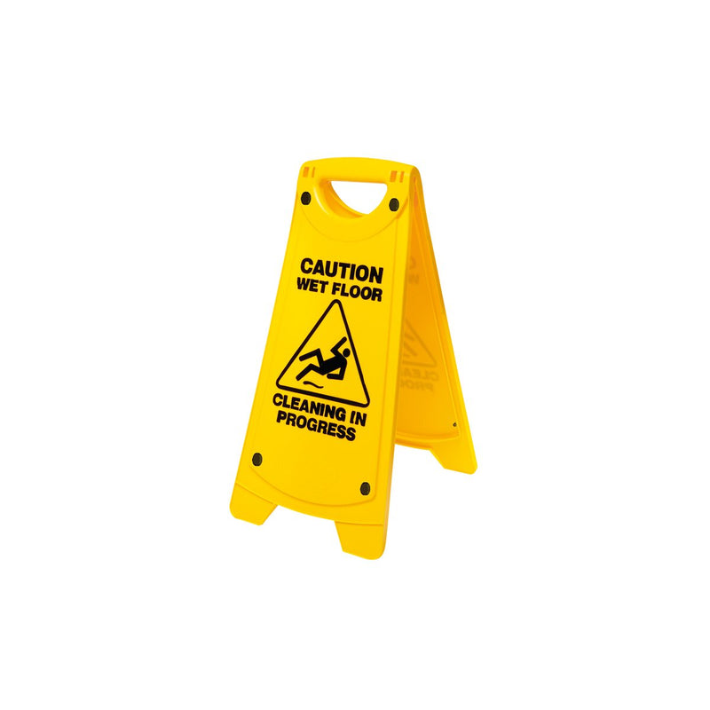 IW-101 Non Slip A-Frame Caution Sign - Yellow Chemworks Hospitality Canberra