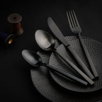 10455-BK-TR Fortessa Titan Arezzo Black Teaspoon Chemworks Hospitality Supplies Canberra