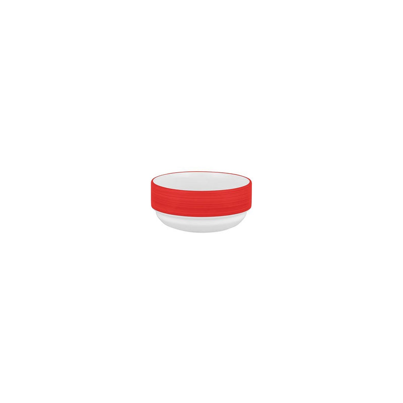 L0857-HCR-TR Australian Fine China Stocked Studio Stackable Bowl Hot Chilli Red Chemworks Hospitality Canberra
