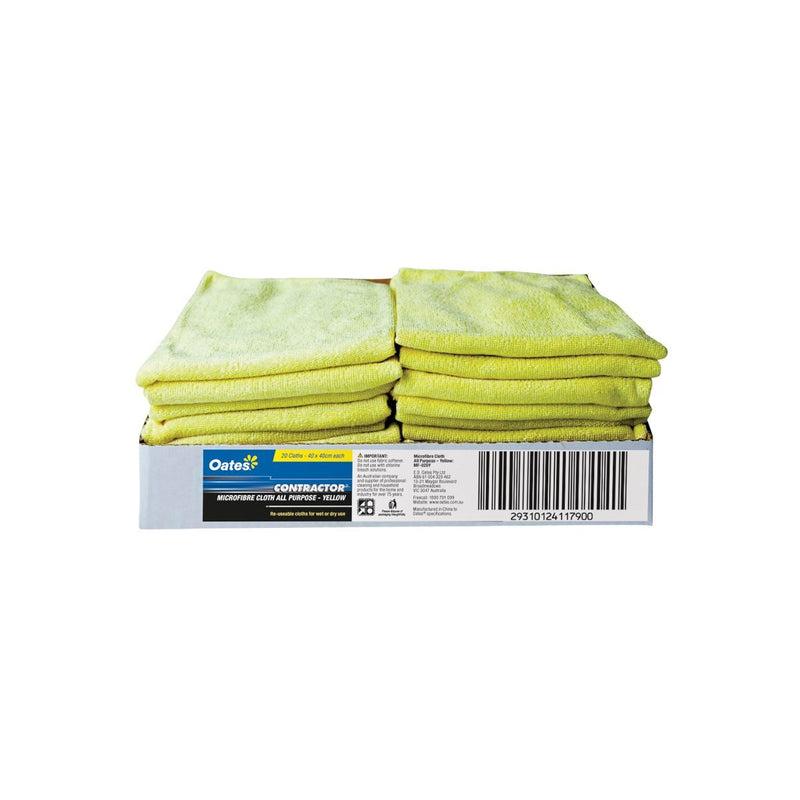 MF-020Y All-Purpose Microfibre Cloth - Yellow Chemworks Hospitality Canberra