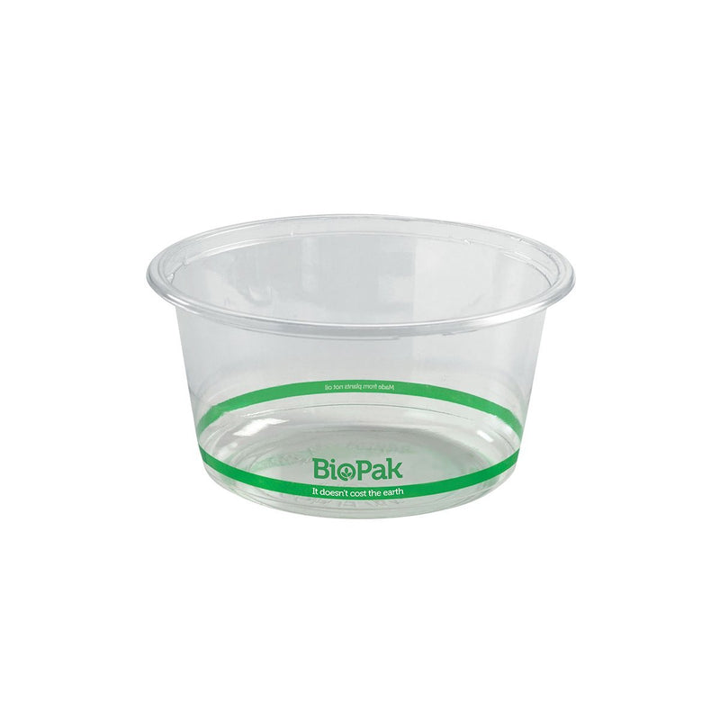 BioPlastic Round Wide Takeaway Containers