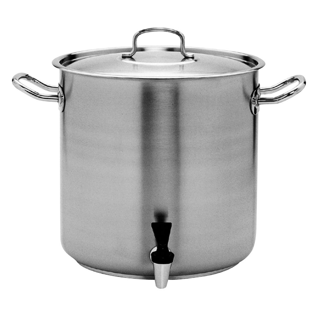 Pujadas Stockpot With Tap 18/10 Stainless Steel Chemworks Hospitality Supplies Canberra