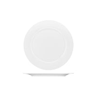 PA3200 Australian Fine China Pacific Round Wide Rim Plate. Bone China 200mm Chemworks Hospitality Canberra