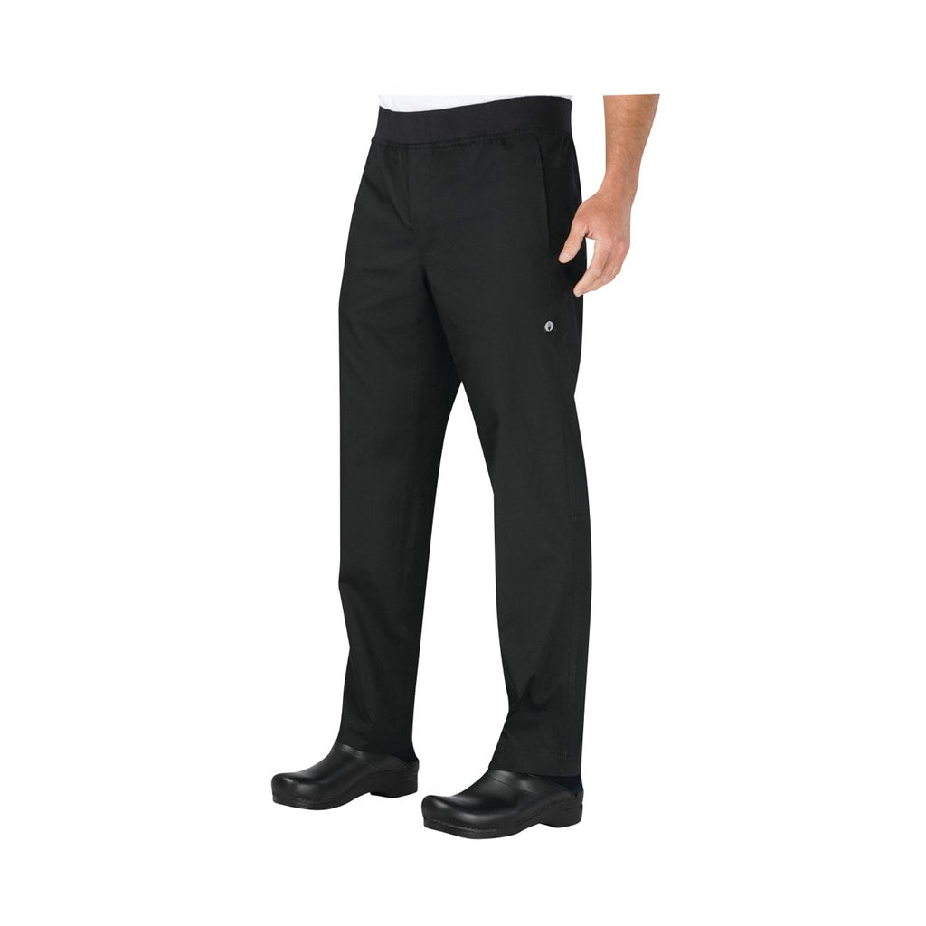 PBN01-BLK-XS Chefworks Chef Pants Lightweight Slim Black Lightweight Slim Chef Pants  X-Small Chemworks Hospitality Canberra