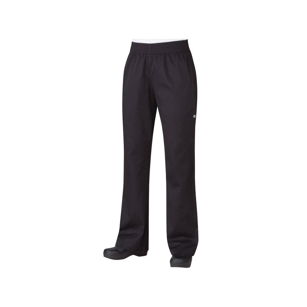 PBN01W-BLK-XS Chefworks Chef Pants Lightweight Slim WomanÕs Black Lightweight Slim WomanÕS Chef Pants  X-Small Chemworks Hospitality Canberra