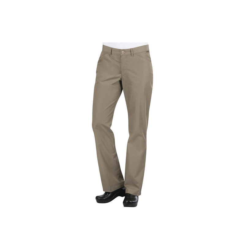 PEN02W-TAU-S Chefworks Chef Pants WomanÕ Taupe Professional WomanÕS Chef Pants  Small Chemworks Hospitality Canberra