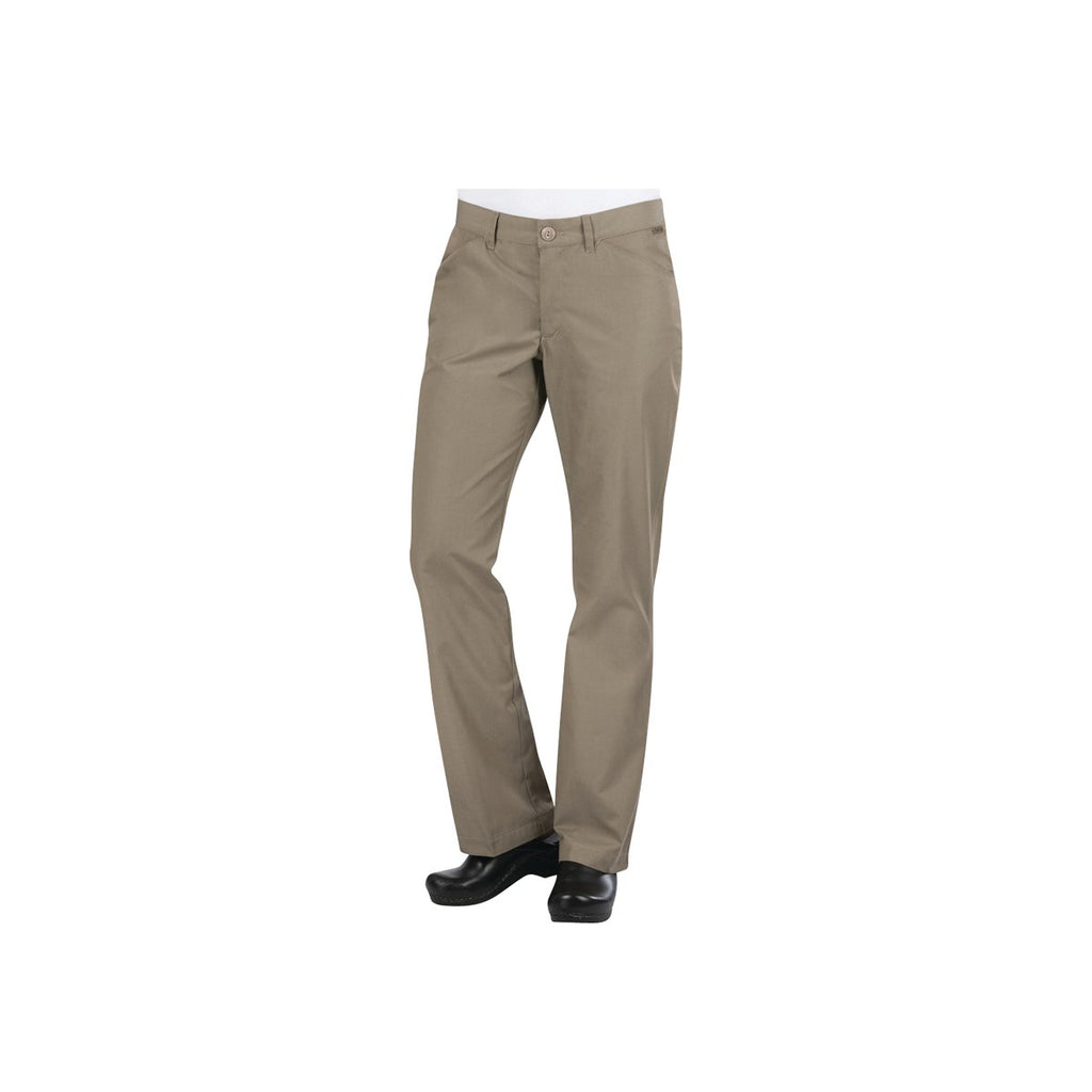 PEN02W-TAU-XS Chefworks Chef Pants WomanÕ Taupe Professional WomanÕS Chef Pants  X-Small Chemworks Hospitality Canberra