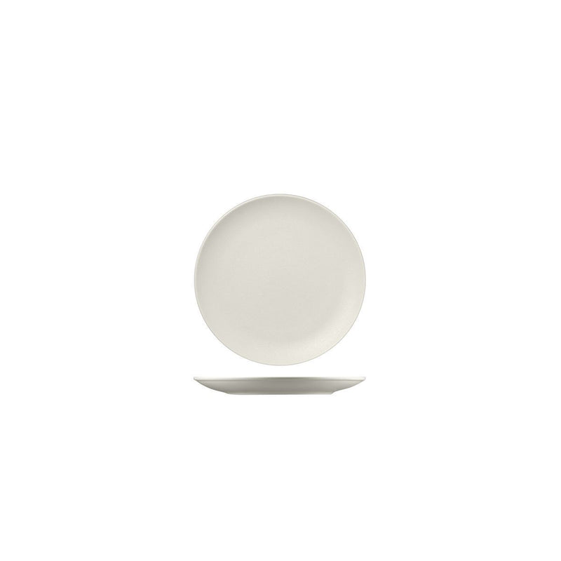 NFNNPR15WH RAK Porcelain Neofusion Sand Round Coupe Plate 150mm Chemworks Hospitality Canberra