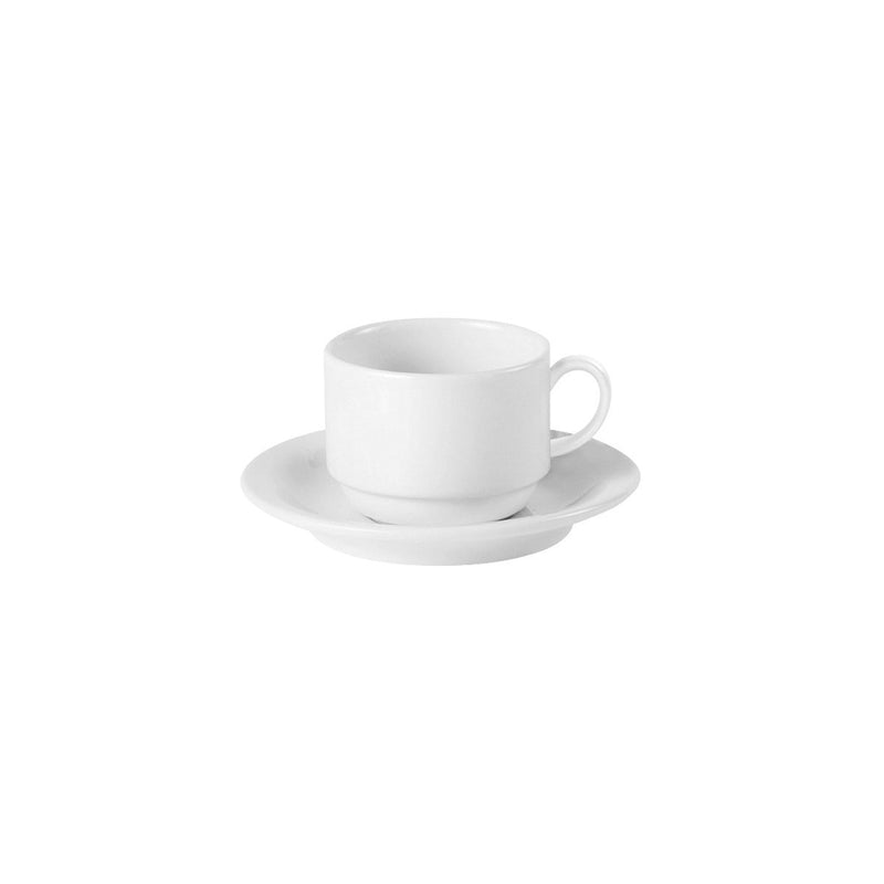 S2501-TR Australian Fine China Flinders Collection Stackable Tea Saucer Chemworks Hospitality Canberra