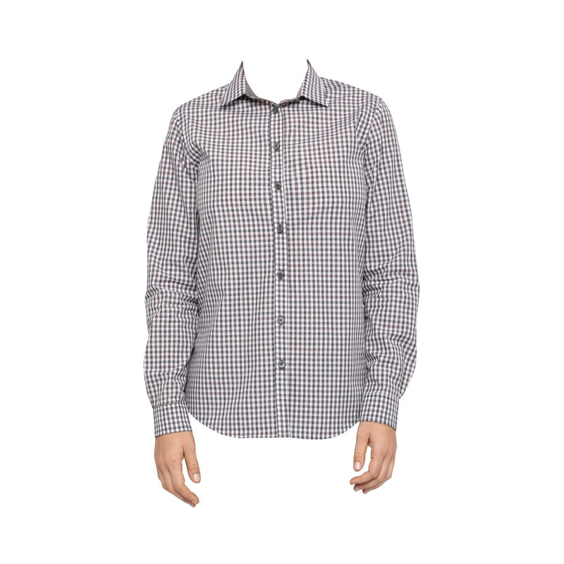 SHC05W-CHO-M Chefworks Shirts WomenÕs Chocolate Gingham WomanÕS Shirt  Medium Chemworks Hospitality Canberra