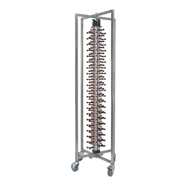 TR-500 Plate Stacking Trolley Holds Up To 84 Plates 650x590x1900mm Chemworks Hospitality Canberra