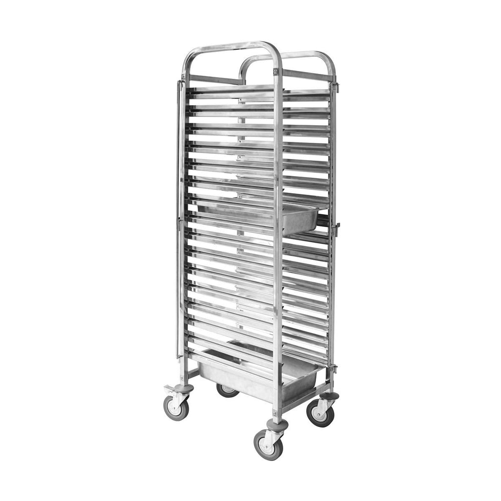 TR-602 Gastronorm Trolley Stainless Steel Fits 16 X 1/1 Size Trays 380x550x1735mm Chemworks Hospitality Canberra