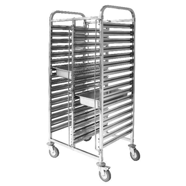 TR-612 Double Gastronorm Trolley Stainless Steel Fits 32 X 1/1 Size Trays 740x550x1735mm Chemworks Hospitality Canberra