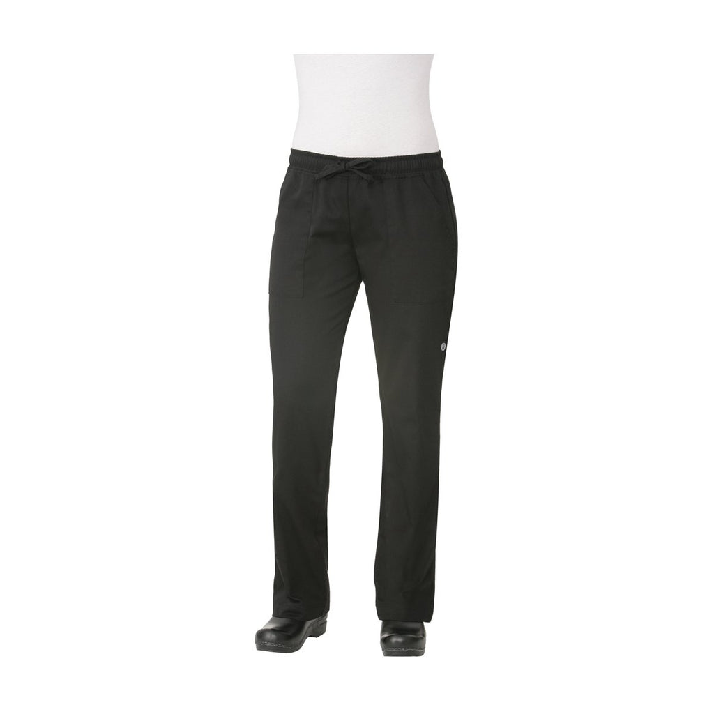WBLK-XS Chefworks Chef Pants Baggy WomanÕs Black Baggy WomanÕS Chef Pants  X-Small Chemworks Hospitality Canberra