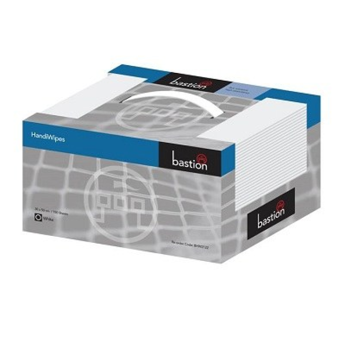 Bastion HandiWipes White Carry Box Per CTN/600