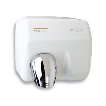 E05A Saniflow White Steel Auto Hand Dryer Chemworks Hospitality Canberra
