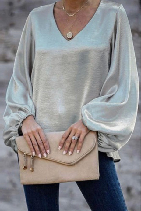 Silver Metallic Top