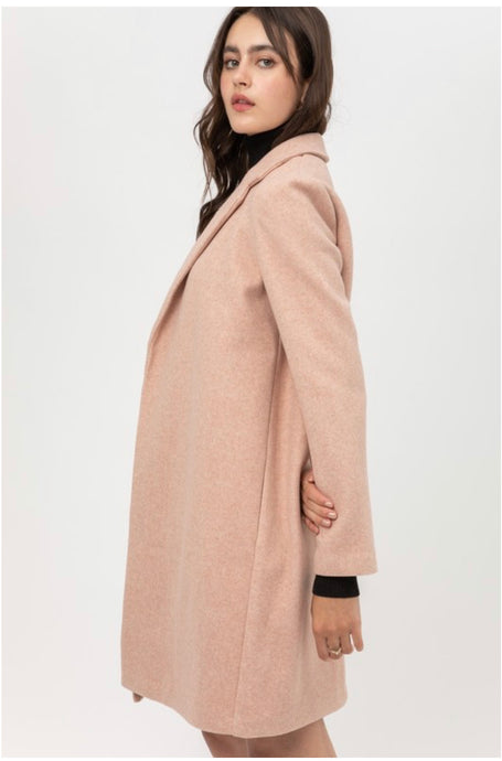 Blush Pink  Long Dress Coat