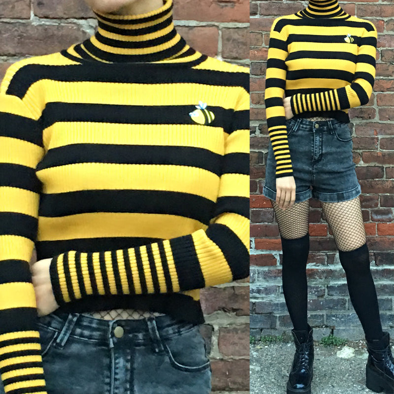 Used Alien Bees For Sale: FREE SHIP- BEE HAPPY KNIT TOP