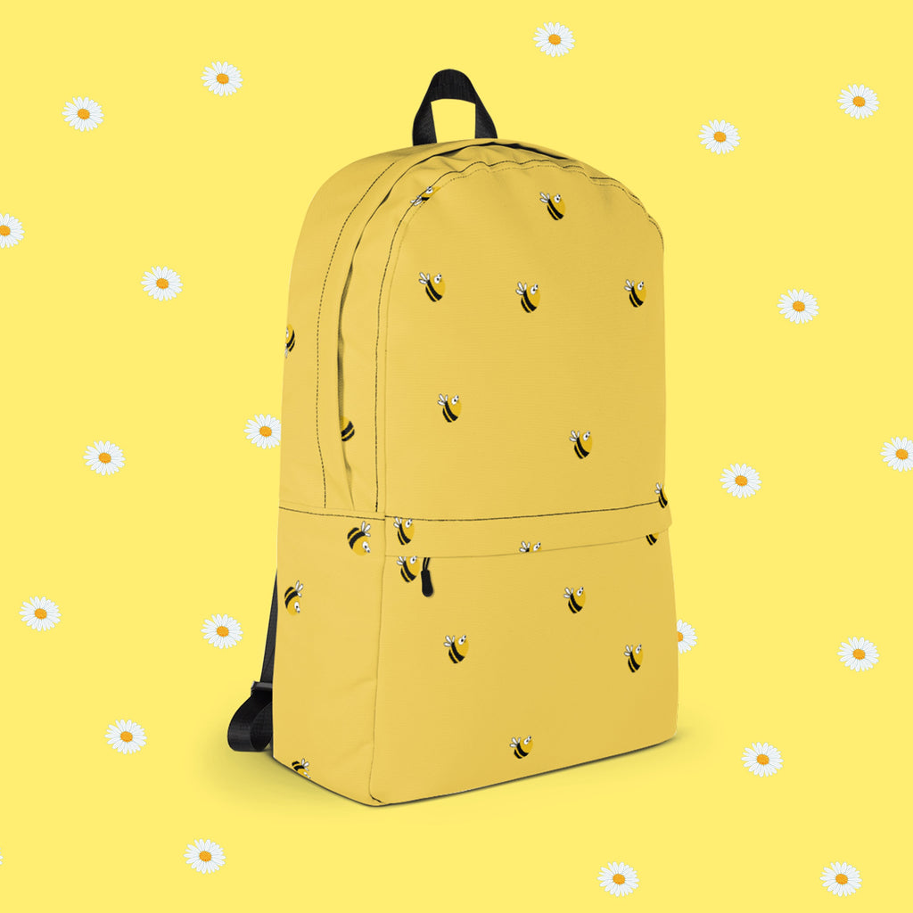 BEE HAPPY BACKPACK - SWEATSHOP-FREE MADE IN USA 8601a5c45247d