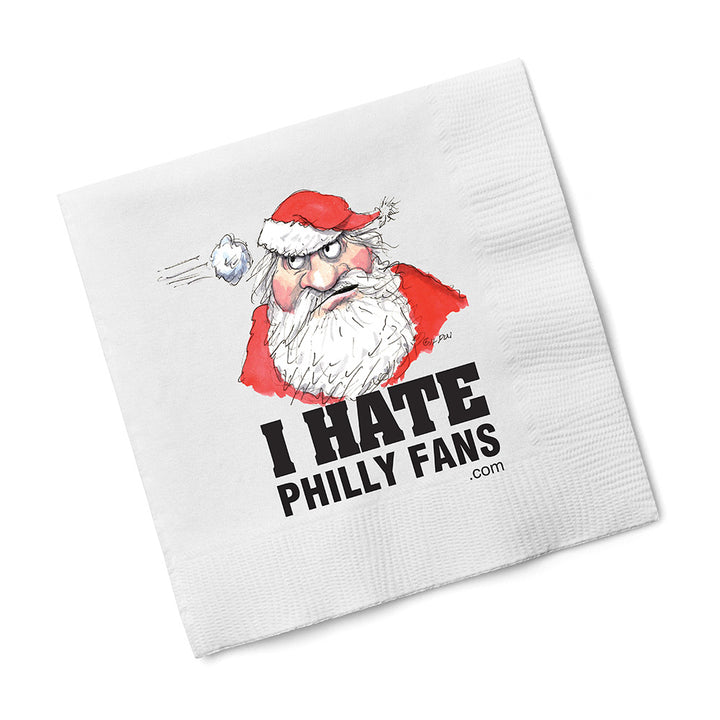 Santa - I Hate Philly Fans Napkins