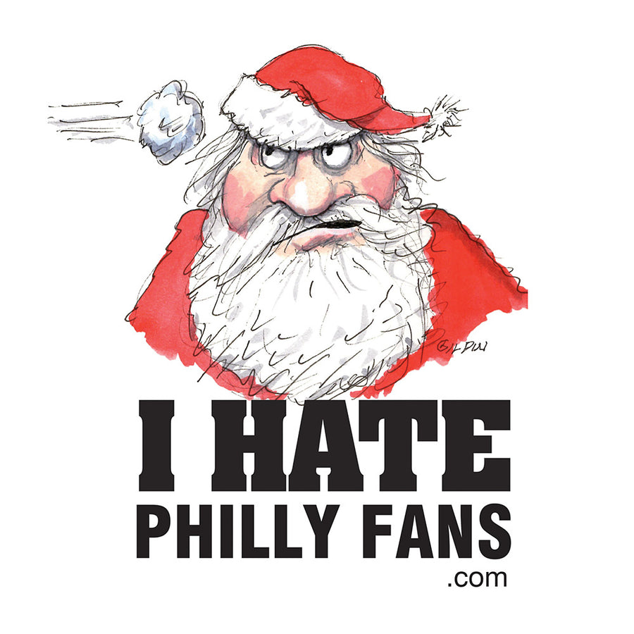 Santa - I Hate Philly Fans Poster
