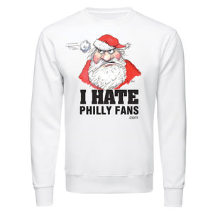 Santa - I Hate Philly Fans Long Sleeve T-Shirt