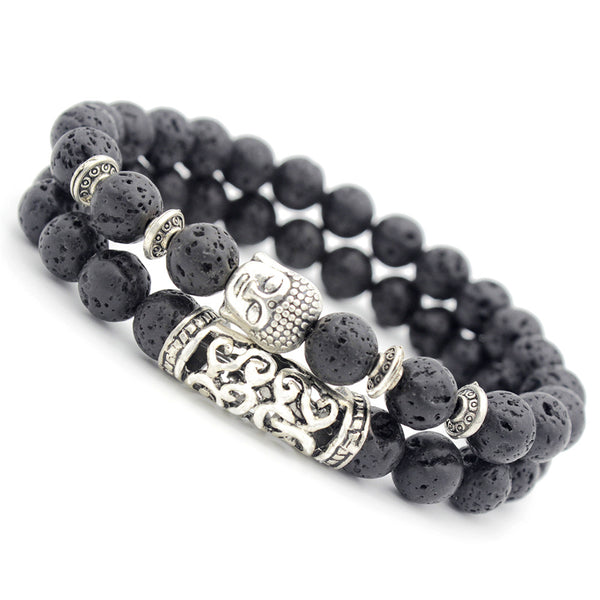 Bracelet Set Buddha Grey