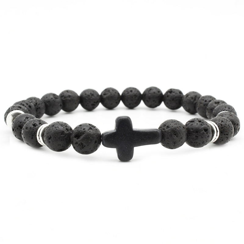 Bracelet Cross Black