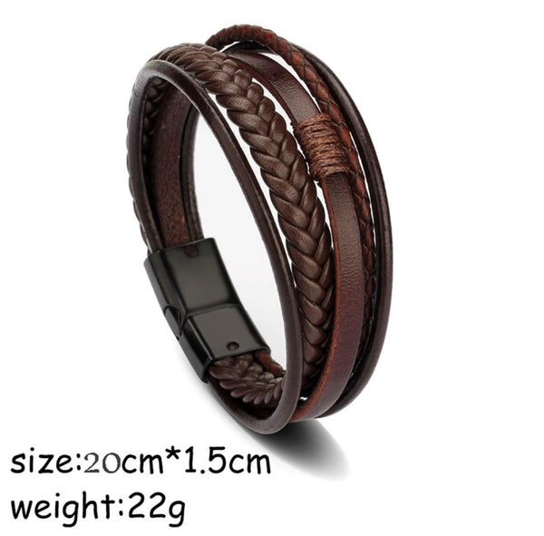Leather bracelet Brown Rio