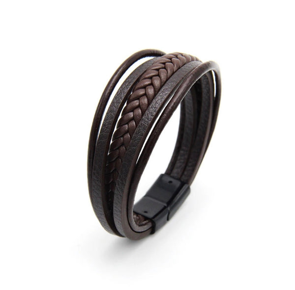Leather bracelet Brown Draven