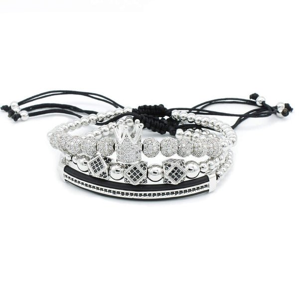 Bracelet Set Luxury Silver