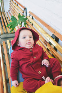 Hooded Tracksuit Romper (Winter Jersey Knit)