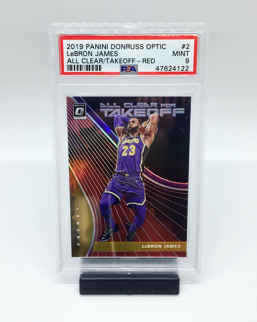 2019 Optic Lebron James All Clear For Takeoff Red /99 #2 PSA 9