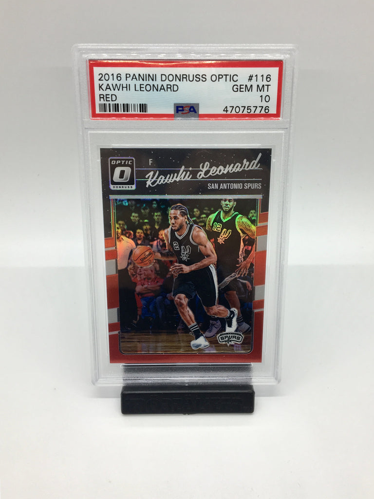 2016 Optic Kawhi Leonard Red /99 #116 PSA 10