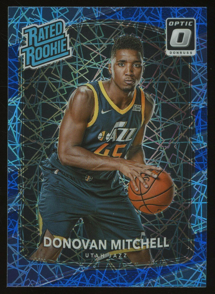 2017 Optic Donovan Mitchell Blue Velocity Rated Rookie