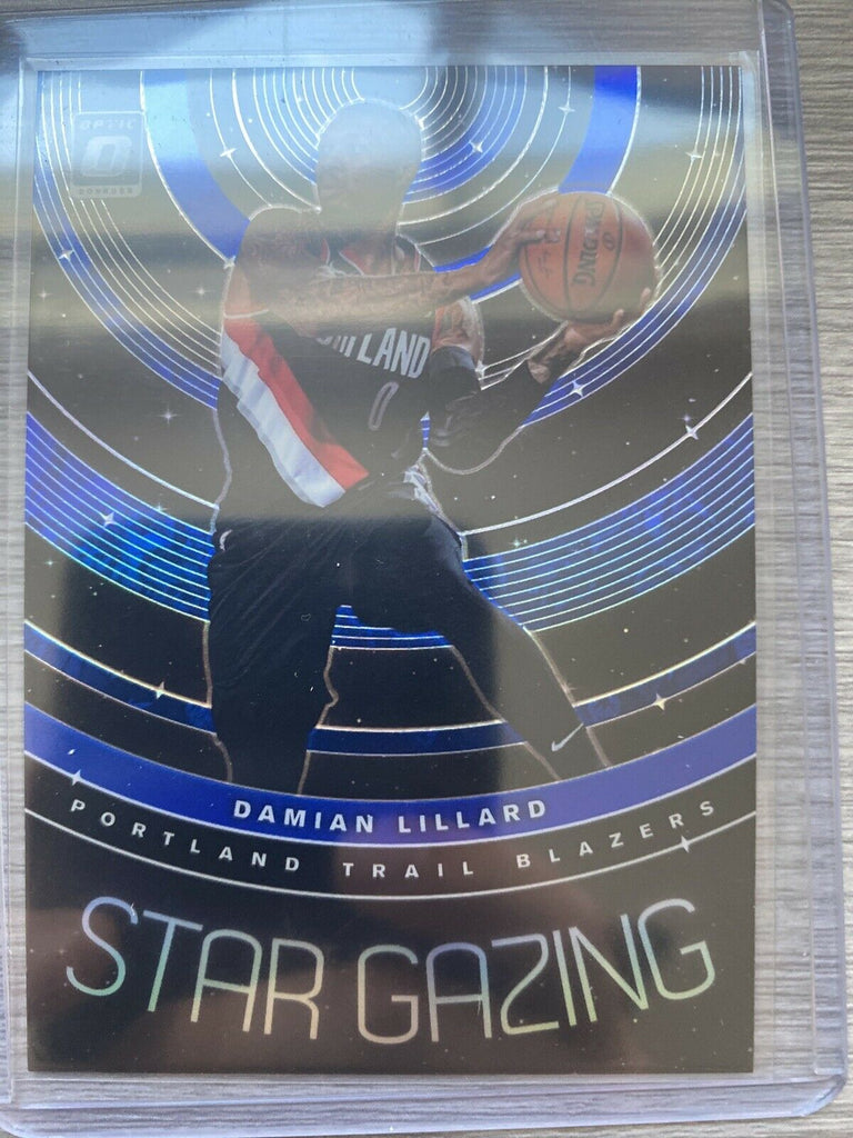 2019 Panini Optic Damian Lillard Star Gazing Blue /49 #7