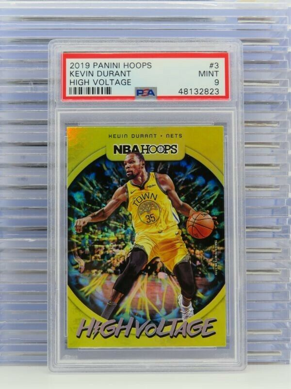 2019 Panini Hoops Kevin Durant High Voltage #3 PSA 9
