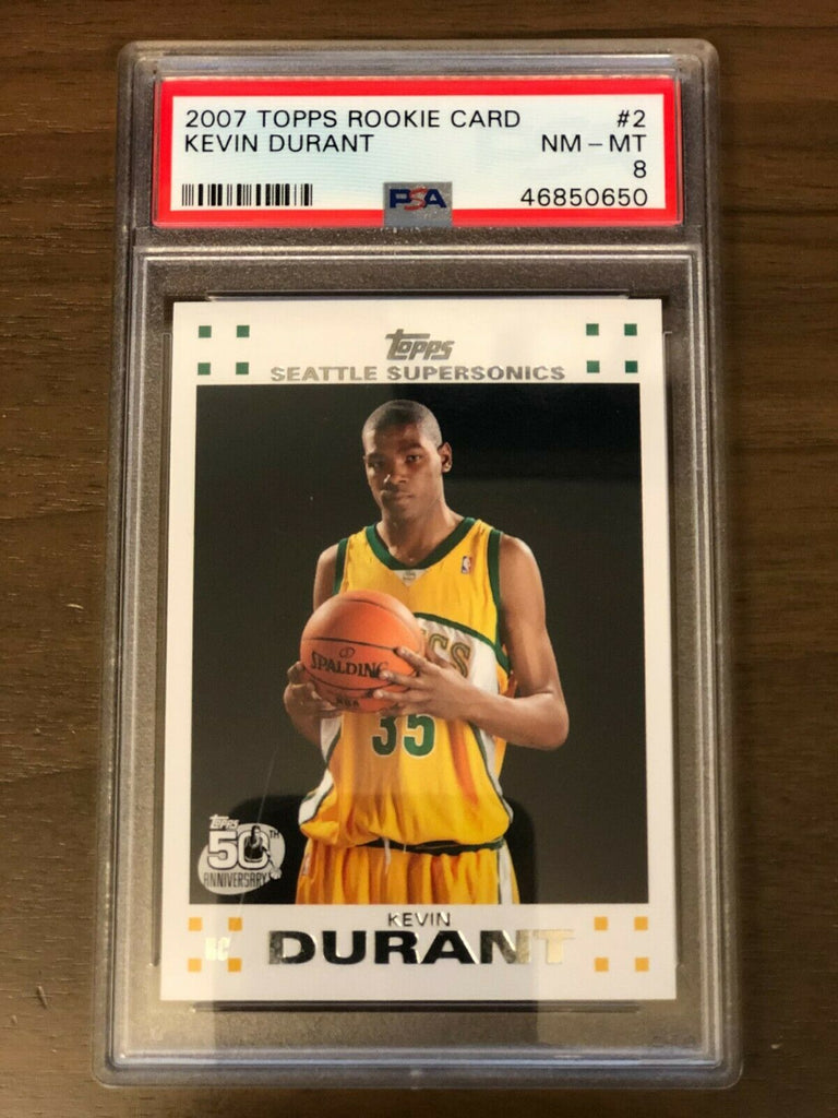 2007 Topps Rookie Card Kevin Durant #2 PSA 8
