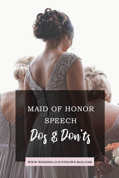 Use our method to write your emotional maid of honor speech step by step.