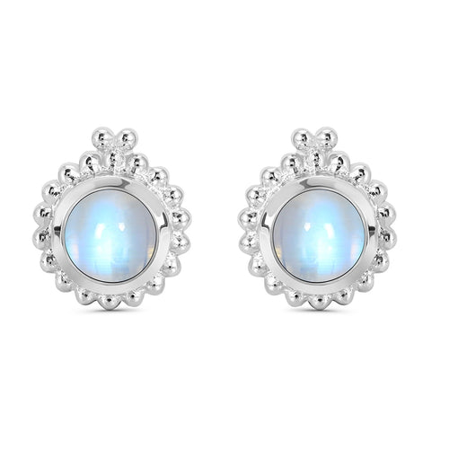 Moonstone - Bubble Studs